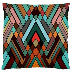 Abstract Mosaic Color Box Large Flano Cushion Case (Two Sides)