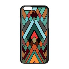Abstract Mosaic Color Box Apple iPhone 6/6S Black Enamel Case