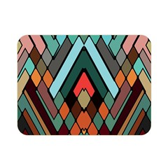 Abstract Mosaic Color Box Double Sided Flano Blanket (Mini)