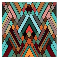 Abstract Mosaic Color Box Large Satin Scarf (Square)