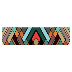 Abstract Mosaic Color Box Satin Scarf (Oblong)