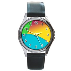 Bok Round Metal Watch