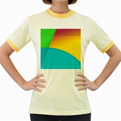 Bok Women s Fitted Ringer T-Shirts