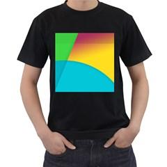 Bok Men s T-Shirt (Black) (Two Sided)