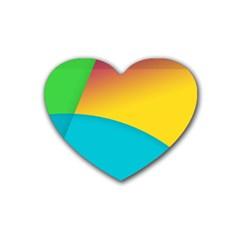 Bok Rubber Coaster (Heart)