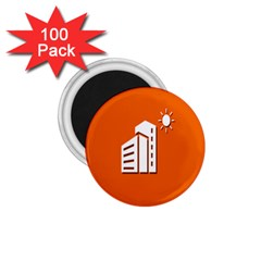 Building Orange Sun Copy 1.75  Magnets (100 pack)