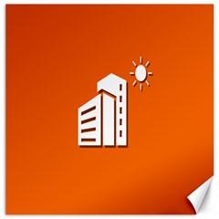 Building Orange Sun Copy Canvas 20  x 20