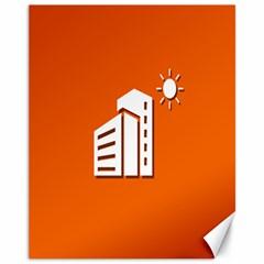 Building Orange Sun Copy Canvas 11  x 14