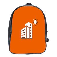 Building Orange Sun Copy School Bags(Large)