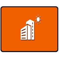 Building Orange Sun Copy Fleece Blanket (Medium)
