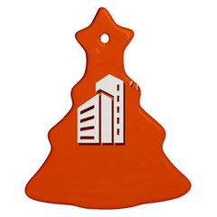 Building Orange Sun Copy Christmas Tree Ornament (2 Sides)