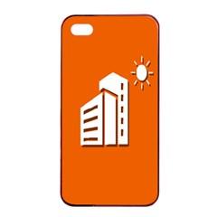 Building Orange Sun Copy Apple iPhone 4/4s Seamless Case (Black)