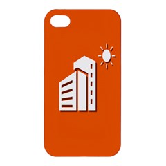 Building Orange Sun Copy Apple iPhone 4/4S Premium Hardshell Case