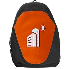Building Orange Sun Copy Backpack Bag