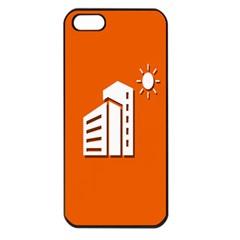 Building Orange Sun Copy Apple iPhone 5 Seamless Case (Black)