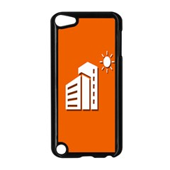 Building Orange Sun Copy Apple iPod Touch 5 Case (Black)