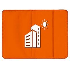 Building Orange Sun Copy Samsung Galaxy Tab 7  P1000 Flip Case