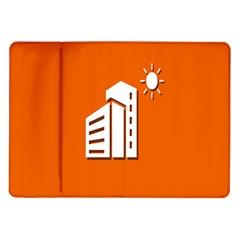 Building Orange Sun Copy Samsung Galaxy Tab 10.1  P7500 Flip Case