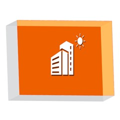Building Orange Sun Copy 5 x 7  Acrylic Photo Blocks