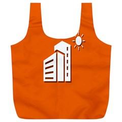 Building Orange Sun Copy Full Print Recycle Bags (L)