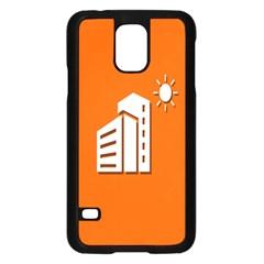 Building Orange Sun Copy Samsung Galaxy S5 Case (Black)