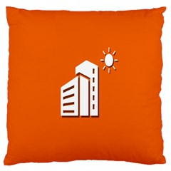 Building Orange Sun Copy Large Flano Cushion Case (One Side)