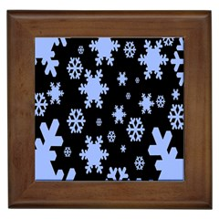 Blue Black Resolution Version Framed Tiles