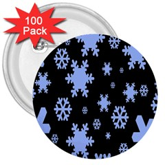 Blue Black Resolution Version 3  Buttons (100 pack)