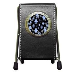 Blue Black Resolution Version Pen Holder Desk Clocks