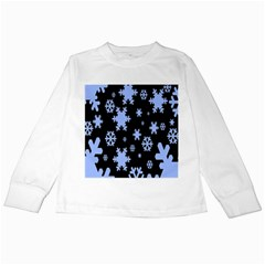 Blue Black Resolution Version Kids Long Sleeve T-Shirts