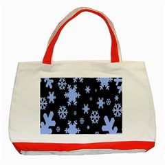 Blue Black Resolution Version Classic Tote Bag (Red)