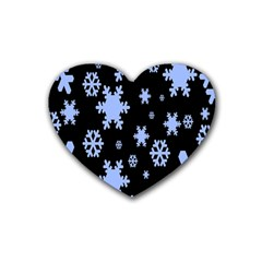 Blue Black Resolution Version Rubber Coaster (Heart)