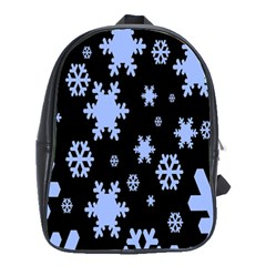 Blue Black Resolution Version School Bags(Large)