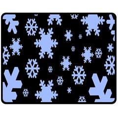 Blue Black Resolution Version Fleece Blanket (Medium)