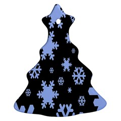 Blue Black Resolution Version Christmas Tree Ornament (2 Sides)