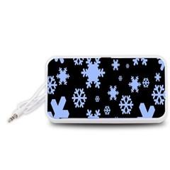 Blue Black Resolution Version Portable Speaker (White)