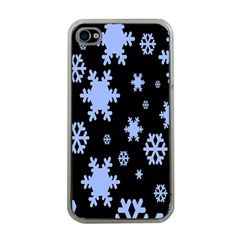 Blue Black Resolution Version Apple iPhone 4 Case (Clear)