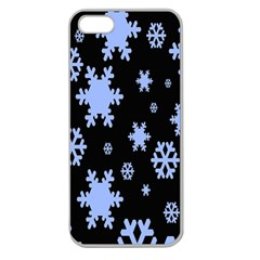 Blue Black Resolution Version Apple Seamless iPhone 5 Case (Clear)