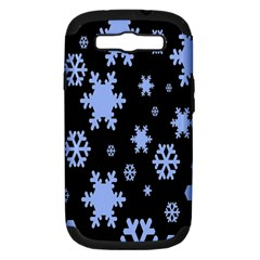 Blue Black Resolution Version Samsung Galaxy S III Hardshell Case (PC+Silicone)