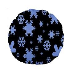 Blue Black Resolution Version Standard 15  Premium Round Cushions