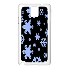 Blue Black Resolution Version Samsung Galaxy Note 3 N9005 Case (White)