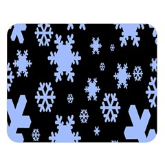 Blue Black Resolution Version Double Sided Flano Blanket (Large)