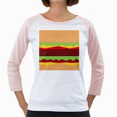 Cake Cute Burger Copy Girly Raglans