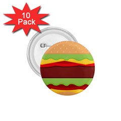 Cake Cute Burger Copy 1.75  Buttons (10 pack)