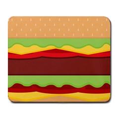 Cake Cute Burger Copy Large Mousepads