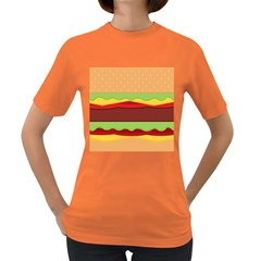 Cake Cute Burger Copy Women s Dark T-Shirt