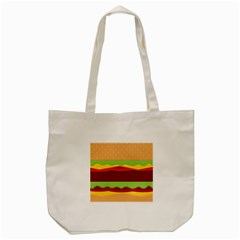 Cake Cute Burger Copy Tote Bag (Cream)