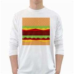 Cake Cute Burger Copy White Long Sleeve T-Shirts