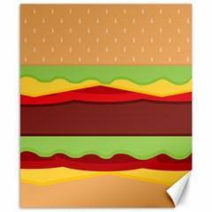 Cake Cute Burger Copy Canvas 8  x 10