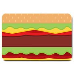 Cake Cute Burger Copy Large Doormat